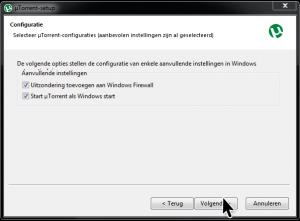 Windows Firewall uTorrent