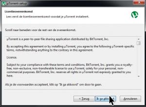 licentie overeenkomst uTorrent